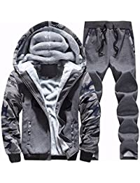 JapHot メンズ ジャケット 上下セット スウェット アクテイブウェア 迷彩カラー ジャージ 男の子 ルームウェア 裏起毛 暖か 迷彩柄 運動着 ジップアップ パーカー スエット 2点セット