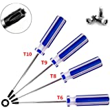 Torx screwdriver set,T6 / 8/9/10 magnetic screwdriver tool combination, suitable for repair or maintenance, toys, small appli