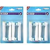 (互換品)ブラウン オーラルB 電動歯ブラシ 替えブラシ 4本 x2セット=8本 (ベーシックブラシ EB17 -4)