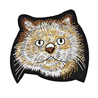 Viviseason(ビビシーズン) 猫咪の頭 刺繍パッチ 可愛い 布 アップリケ シャツ ジーンズ 帽子 DIY 手作り 手芸用 工芸品 小物