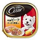 シーザー 成犬用 吟選ビーフ チーズ 野菜入り 100g×24個 (ケース販売) ドッグフード ウェット