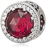 [パンドラ] PANDORA Disney, Belle's Radiant Rose チャーム (シルバー ミックスストーン) 正規輸入品 792140NCC