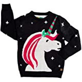 Tipsy Elves Cute Baby Unicorn Christmas Sweater - Ugly Christmas Sweater for Infant
