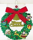 クリスマス ライト&メロディカード (リース) 72211-1