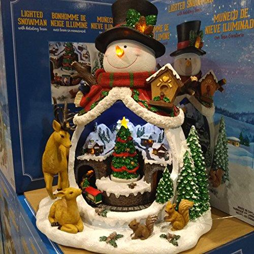クリスマスツリー スノーマンwithトレインシーン クリスマ...