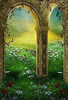 Yeele 4x 5ft Dreamy Garden Backdrop Colourful Meadow花風景写真背景ベビーFairy Girl Boy Adult Portrait写真ブース撮影ビニール壁紙Studio小道具