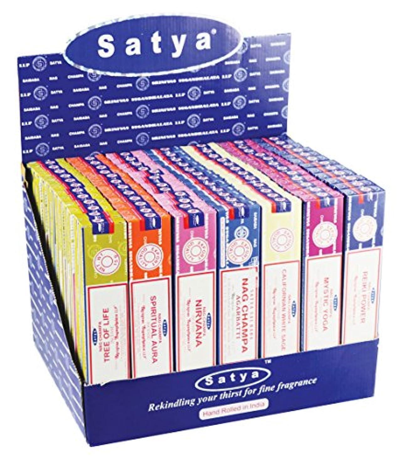 サスティーン影響力のある先入観84pc表示 – Satya Incense VFMシリーズ2 – 15 gm/Assorted