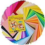 Onepine 折り紙 200枚 50色 15cm角 DIY アート&クラフトプロジェクト、正方形 色紙 おりがみ