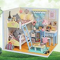 スポーツFitness DIY人形家Wooden MiniドールハウスLifelikeハンドメイドミニチュアキットToys for Children Girls装飾コレクションおもちゃ