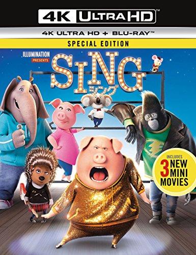 【Amazon.co.jp限定】SING/シング(4K ULTRA HD + Blu-rayセット) (オリジナル収納ケース付き)[4K ULTRA HD + Blu-ray]
