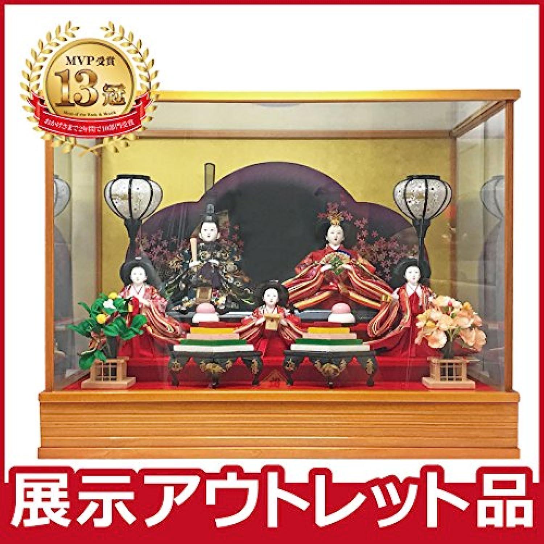 雛人形 コンパクト ケース飾り 【アウトレット特価】2019out-hina9