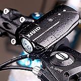 ライト自転車 ヘッドライト XSUID 自転車ライト USB充電式ヘッドライト1200mAh(R3)500ルーメン 防水 強/ 弱/ フラッシュモード 高輝度 LEDライト(日本語の説明書を付随する)【一年間安心保証】