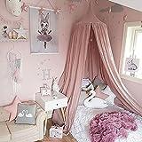 Minidiva 天蓋カーテン 可愛いお姫様ベット 防蚊虫 蚊帳 取り付け簡単 部屋飾り 高240*直径50CM 4色選べる(ピンク)