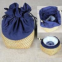 LY-Vigor 編みかごのプランター バスケット 収納 小物入れ エスニック 小 自然素材 手作り ティーカップ入れ
