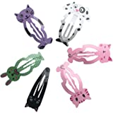 VPbao 6pcs Baby Girls Hair Barrettes Animal Shape Hairs Clip Accessories Set