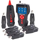 Network Cable Tester AT226-C Multi-functional LCD For RJ45, RJ11, BNC, Metal Cable,PING/POE Tracker NF-8601W