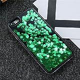 Dagly(TM) iPhone 6 6S iPhone 7プラスケースガール女性アクセサリーについてはiPhone 6 6SプラスiPhoneケース7 Phoneのカバーにグリッター流砂ケース[iphone 6 6S用グリーンプラス]