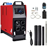 Vinteky Car Fuel Diesel Air Heater Forced Air Parking Heater with Remote Controller 5KW 12V All In 1 Integrated Machine For T