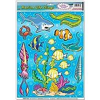 Beistle 55133 Marine Life Clings Sheet, 12 by 17-Inch [並行輸入品]
