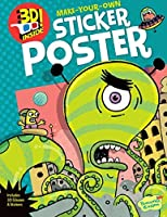 Peaceable Kingdom Alien Attack 3D Sticker Activity Poster Book