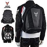 MotoCentric motorcycle leather waterproof backpack riding laptop helmet shoulder bag package (Gray)