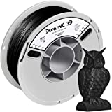 DURAMIC 3D PETG Printer Filament 1.75mm Black, 3D Printing Filament 1kg Spool(2.2lbs), Non-Tangling Non-Clogging Non-Stringin