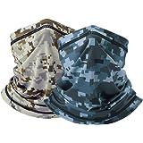 Cooling Camo Bandana Face Mask - Seamless Face Scarf Sun UV Protection Neck Cover Face Scarf