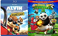 Alvin & the Chipmunks: The Road Chip & Kung Fu Panda part 3 Blu Ray Animated Bundle Cartoons movie Set