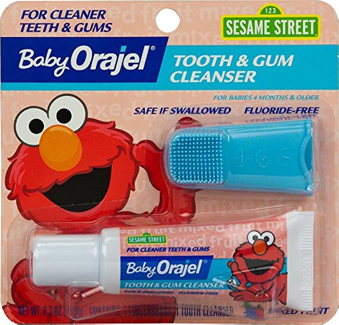 消化器ストレージ蓋海外直送肘 Baby Orajel Tooth Gum Cleanser Mixed Fruit, Mixed Fruit 0.7 oz