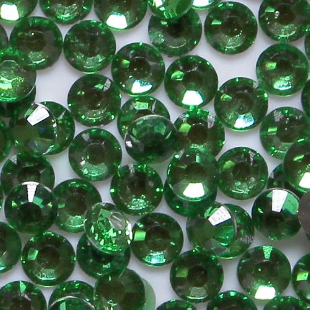 書き込み低い合法高品質 アクリルストーン ラインストーン ラウンドフラット 約1000粒入り 3mm グリーントルマリン