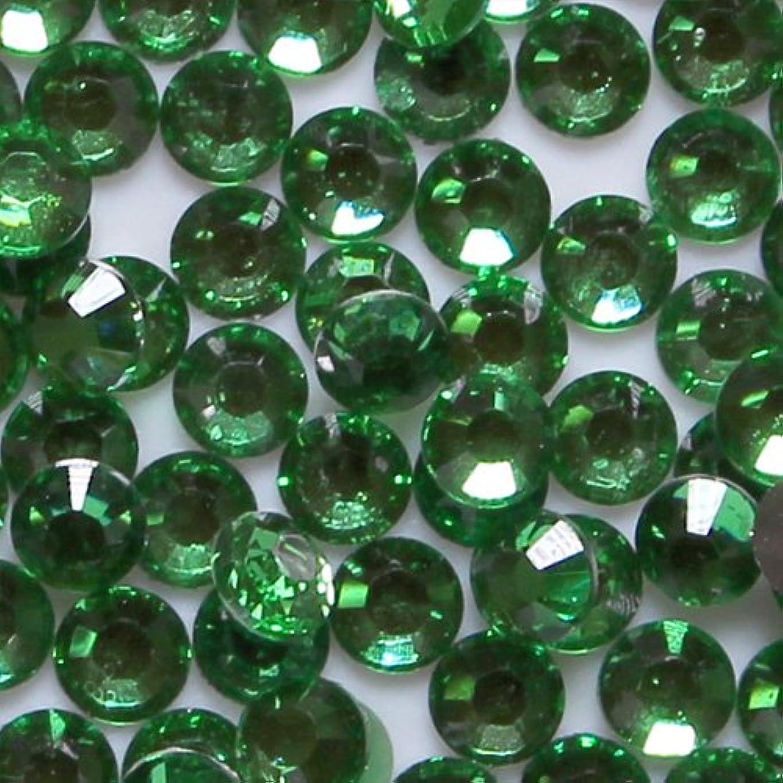 曲空の私たちの高品質 アクリルストーン ラインストーン ラウンドフラット 約1000粒入り 2mm グリーントルマリン