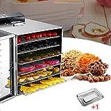 食品乾燥機 6層 フードディハイドレーター ドライフルーツ 野菜ドライヤー LCDタッチパネル 360°サイクル熱 食品グレード304 ステンレス鋼