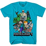 Minecraft All Aboard Big Boys Youth T-Shirt Licensed