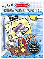 青: My First色とともにWater Onlyアートアクティビティパッド+ Free Melissa & Doug Scratchアートmini-pad Bundle [ 31844]