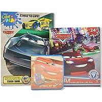 Cars 3カラーリングandアクティビティブックwithクレヨン、水色とパズル