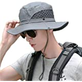 Sinrier Outdoor Boonie Sun Hat for Women and Men, Wide Brim Summer Hat Waterproof for Fishing, Hiking, Camping, Boating and O
