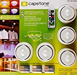 CAPSTONE LEDパックライト スポットライト5個セット リモコン 4色調色・調光可能・角度調整