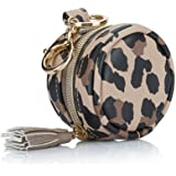 Itzy Ritzy Pacifier Case with Clip – Pacifier Charm Pod Includes Clasp to Easily Attach to a Diaper Bag or Purse; Measures 2.