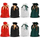 TIMESETL ラッピング袋 巾着袋 4色 8枚 不織布 かわいい ギフトバッグ ハロウィーン 誕生日 クリスマス 包装 小分け プレゼント用