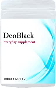DeoBlack デオブラック 白髪が気になり始める30代からの 黒サラ習慣応援サプリメント ケラチン プラセンタ マンガン クロム モリブデン 亜鉛 銅 セレン ビオチン ギャバ シャンピニオン (DeoBlack)