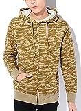 タイガーカモB M (ベストマート)BestMart 裏起毛 ストリート系 ジップアップ スエット ミニ裏毛 ロング丈パーカー 7分袖 メンズ パーカ 七分袖 Tシャツ スウェット 丈長い 丈長めtシャツ ビッグシルエット ヒップホップ スポーツ ゆったり ゆる ゆるい 長袖 長そで 人気 621650-005-948
