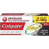 Colgate Total Charcoal Deep Clean Antibacterial Toothpaste Valuepack 150g x 2 (packaging may vary)