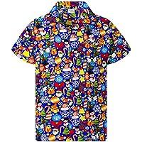 King Kameha Hawaiian Shirt for Men Funky Casual Button Down Very Loud Shortsleeve Unisex X-Mas Christmas Allover
