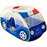 Anyshock Kids Tent, Kiddy Play Foldable Pop Up Police Car Tent Indoor Outdoor Toys Playhouse for Children Toddler 1-6 Year Ol