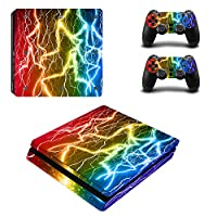 Linyuan 安定した品質 Multi-style Skin Sticker Cover for PlayStation PS4slim Console+Controllers