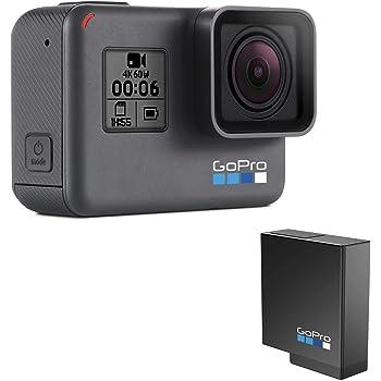 【国内正規品】GoPro アクションカメラ HERO6 Black CHDHX-601-FW +充電式バッテリー AABAT-001-AS セット