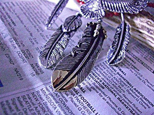 胸元に舞い降りる白銀の鷹。ネイティブビーズネックレスに深々と彫りこんだ羽根が通る妥協を許さない極上の仕上がりです【当店オリジナルカスタム仕様】赤サンゴ/ターコイズ/EXILE系/EXILE Jソウル系ネックレス/イーグル/鷲/ゴローズ系/ナバホ