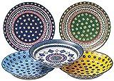 5pcsセット F JACK PORT(ジャックポート) 日本製 5枚セット 北欧風 パスタプレート 皿 食器 ギフト 人気 陶器 ガラス BOXセット お..