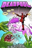 Trends International Deadpool-Unicorn Wall Poster 22.375 x 34 [並行輸入品]