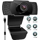 ウェブカメラ WEBカメラ 1080P フルHD 110°超広角 ノイズ対策マイク内蔵 自動光補正 WEB会議 tv会議 オンライン教育 ネット授業 動画配信 ゲーム実況 生放送対応 在宅勤務 テレワーク用カメラ PCカメラ USBカメラ